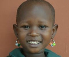 Massai girl smiling
