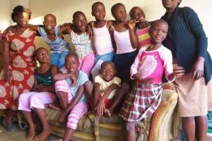 group of Kenyan girls and women