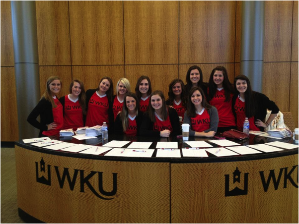 WKU Panhellenic Association's 2013 Executive Officers.