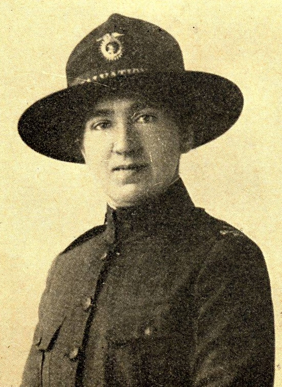 Mildred Bates Smith, a Boston University Pi Beta Phi alumna. She, along with her husband, joined in the Salvation Army. It was the only possible way that they could serve together overseas.